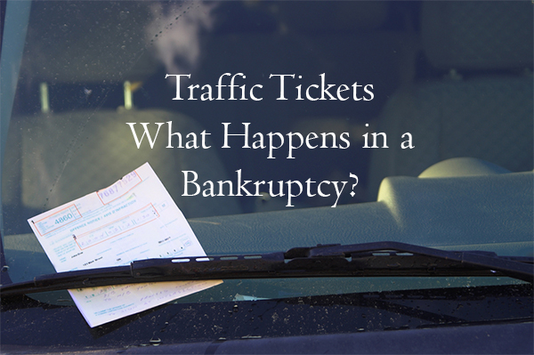 parking and traffic tickets in bankruptcy