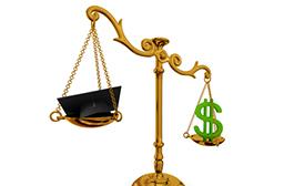 balance cost of debt repayment