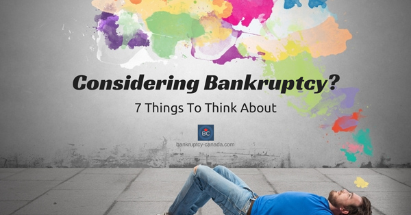 Considering bankruptcy. Should I file bankruptcy?